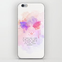 Always Forever - Piglet iPhone Skin