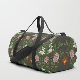 Winter Flowers Duffle Bag