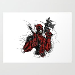 Merc with a mouth Art Print