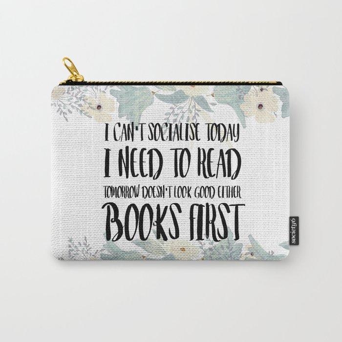 Books First Carry-All Pouch