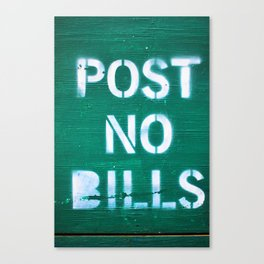 286. Post no Bills, New York Canvas Print