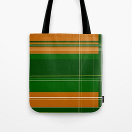 Green and Orange Plaid Tote Bag