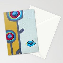 Blu Bird Bloom Stationery Cards