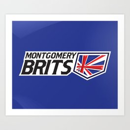 Montgomery Brits Full Logo Art Print
