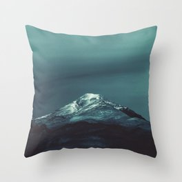 Northern Lights watercolor Throw Pillow