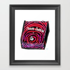 Panic Button Framed Art Print