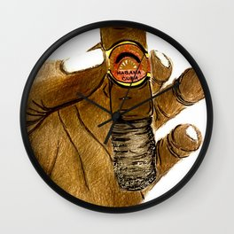 Cuban Cigar Wall Clock