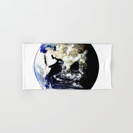 Earth Globe Hand & Bath Towel