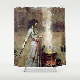 The Magic Circle John William Waterhouse Shower Curtain