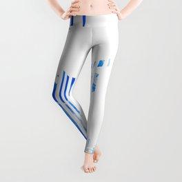 Geometric blue Stag Leggings