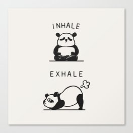 Inhale Exhale Panda Canvas Print