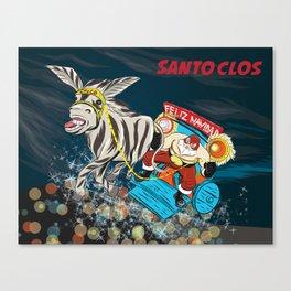 El Santo Clos Rides Again Canvas Print