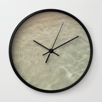 sand Wall Clocks featuring Sand by Marie Chan