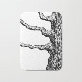 Gnarly Old Maple Tree Illustration Bath Mat