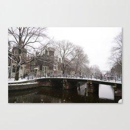 Winter in Amsterdam Canvas Print