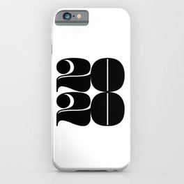 2020 Year | Typography | Square iPhone Case
