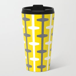 Geometric Pattern #208 (yellow gray) Travel Mug