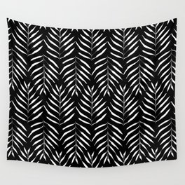 Black and white Palms Wall Tapestry