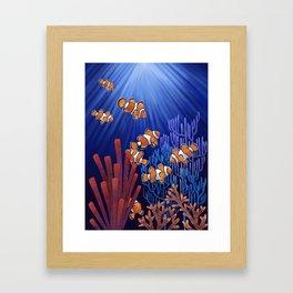 Clown Fish tank Framed Art Print