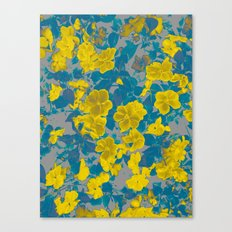 Electric Floral Canvas Print