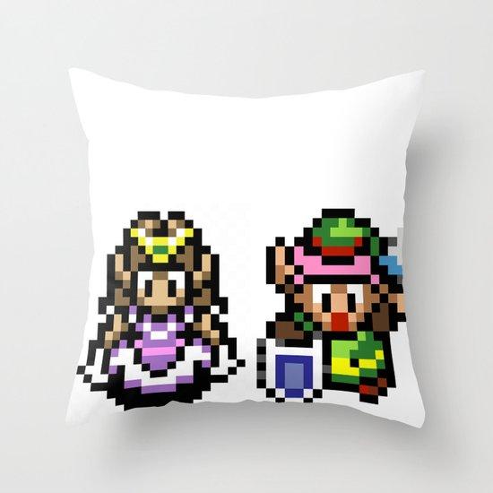 Zelda and Link Throw Pillow
