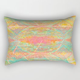 370 34 Neon Pastel Hippie Rectangular Pillow