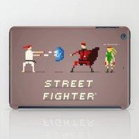 street fighter iPad Cases featuring Pixel Art Street Fighter by LoweakGraph