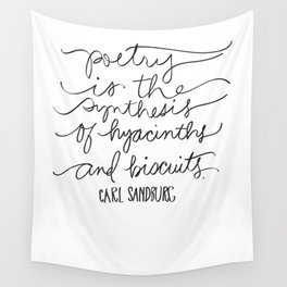 Poetry - Sandburg Quotation Wall Tapestry