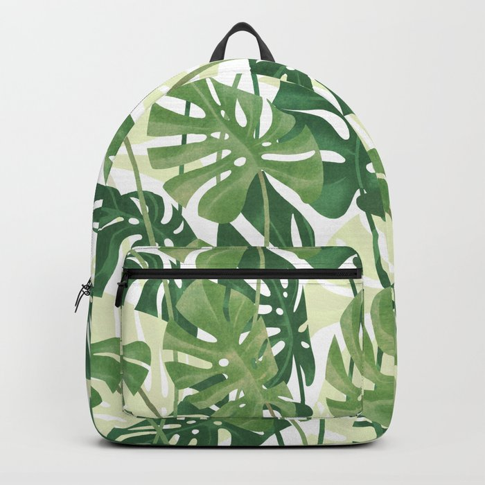 Vintage Monstera leaves Backpack