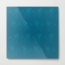 Andalucian Stallion - horse dancing Metal Print