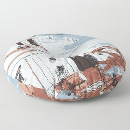 Lisbon Portugal Floor Pillow