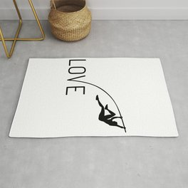 Athletics love high jump gift Rug