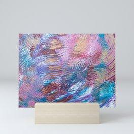 Red ridges Mini Art Print