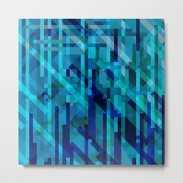abstract composition in blues Metal Print