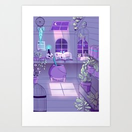 Witch' work space - Witchcraft collection Art Print