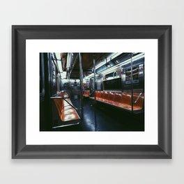 A Deserted 6 Train Framed Art Print