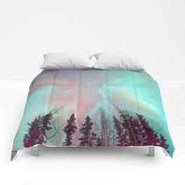 Deep Pastel Aurora Borealis Comforters