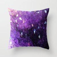 minerals Throw Pillows featuring Minerals Rock II by Stella Ralph-Ağbaş