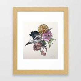 Bird Skull Garden Framed Art Print