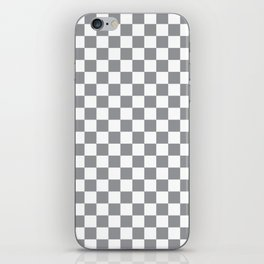 Grey Checkerboard Pattern iPhone Skin