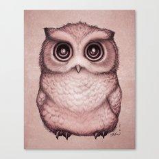 The Little Owl ~ Peach Canvas Print