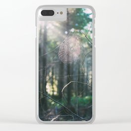 Morning Webs Clear iPhone Case