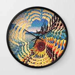 Tahoe Sunburst Wall Clock