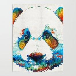 Colorful Panda Bear Art By Sharon Cummings Poster
