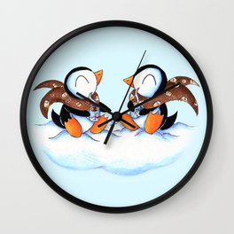Hot Chocolate Buddies Wall Clock