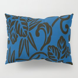 Antique Japanese Pattern : Navy Blue Pillow Sham