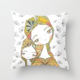 Floral Motherhood Throw Pillow