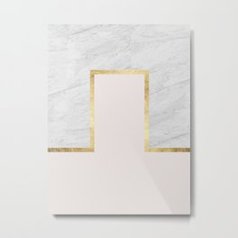 Gold and marble composition I Metal Print