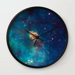 Space Nebula, A View of Astronomy, Stars, Galaxy, and Outer space  Wall Clock