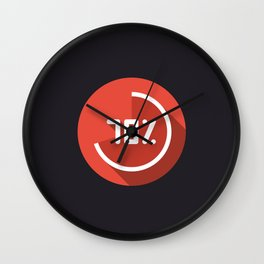 "Illustration ""percentage - 70%"" with long shadow in new modern flat design Wall Clock"